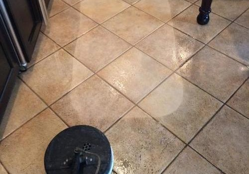 Tile And Grout Cleaning Before And After Photo